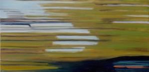 Tree, house, car, Richmond street, oil on canvas, 12 X 24